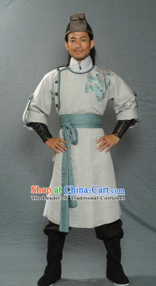 Traditional Chinese Ancient Song Dynasty Military Officer Replica Costume for Men