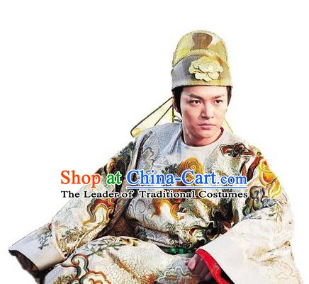 Traditional Chinese Ancient Emperor Gaozong of Tang Dynasty Li Zhi Replica Costume for Men