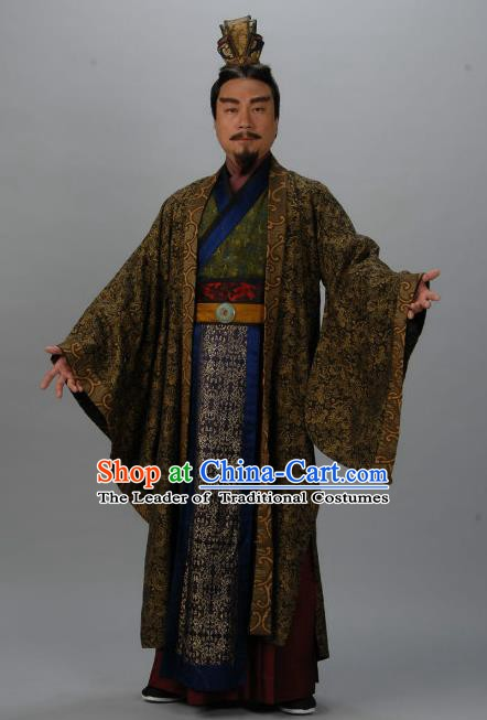 Chinese Ancient Tang Dynasty Lord Protector Minister Wu Chengsi Replica Costume for Men