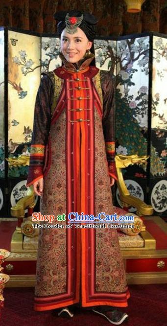 Chinese Ancient Tang Dynasty National Minority Princess Embroidered Historical Costume for Women