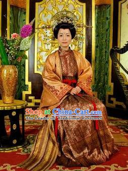 Chinese Ancient Tang Dynasty Ning Kingdom Princess Royal Dress Historical Costume for Women
