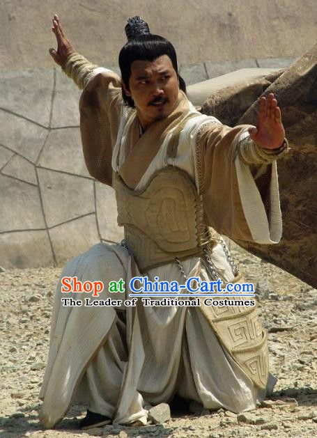 Chinese Ancient Tang Dynasty General Shan Xiongxin Swordsman Replica Costume for Men