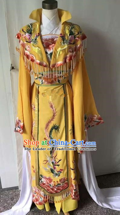 Top Grade Chinese Beijing Opera Diva Water Sleeve Dress China Peking Opera Empress Embroidered Costume