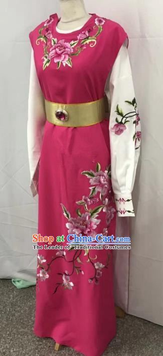 Chinese Beijing Opera Scholar Jia Baoyu Costume Peking Opera Niche Rosy Embroidery Robe for Adults