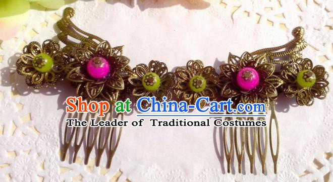 Chinese Ancient Hair Accessories Hanfu Hairpins Butterfly Hair Comb for Women