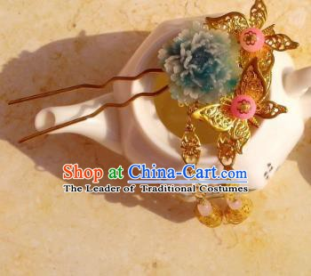 Chinese Ancient Hair Accessories Butterfly Hairpins Hanfu Hair Stick for Women