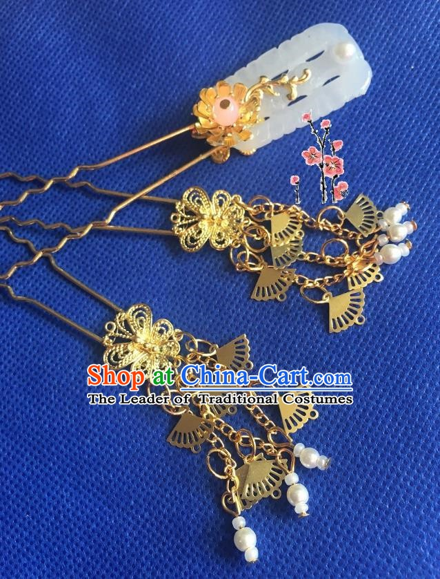 Chinese Ancient Hair Accessories Hanfu Hairpins for Women
