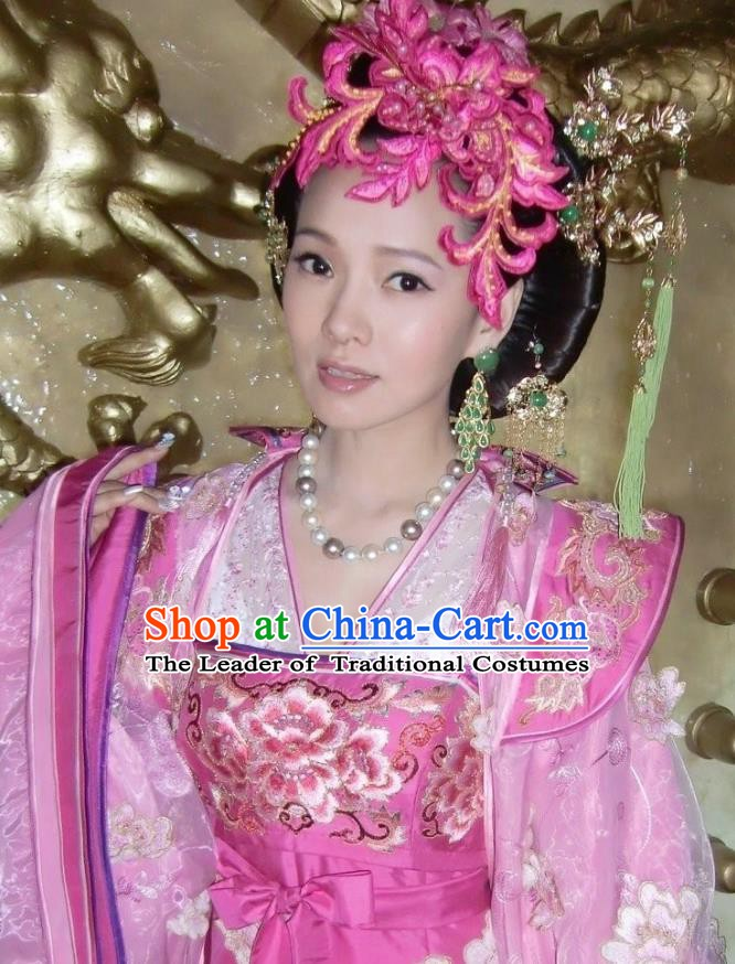 Traditional Chinese Ancient Costume Ancient  Tang Dynasty Hanfu Dress Clothing