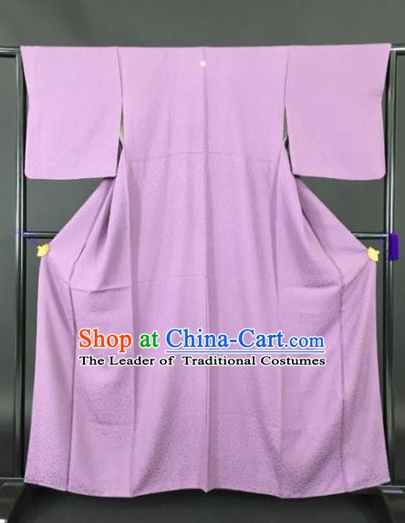 Japan Traditional Kimonos Lilac Furisode Kimono Ancient Yukata Dress Formal Costume for Women