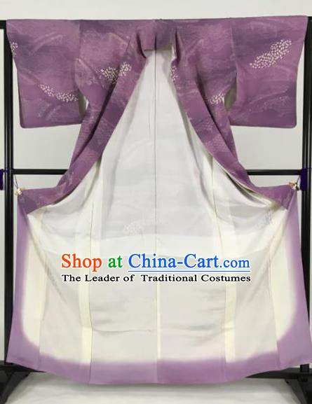 Japanese Male Costume Ancient Purple Palace Kimono Traditional Wafuku Hakama Yukata Robe for Men