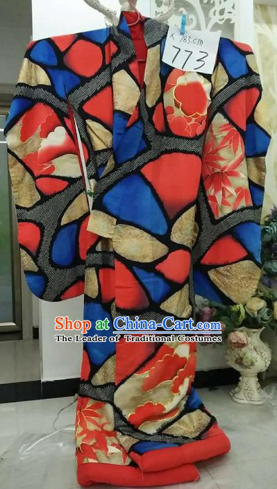 Ancient Japanese Palace Furisode Kimonos Traditional Geisha Yukata Dress Formal Costume for Women