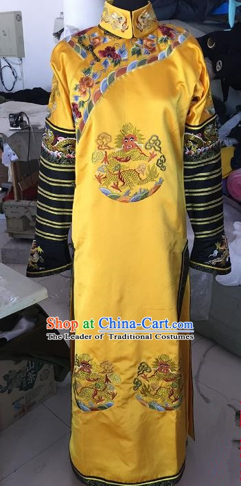 Chinese Ancient Qing Dynasty Manchu Empress Embroidered Costume for Women