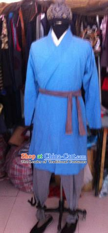Chinese Ancient Song Dynasty Manservant Costume for Men