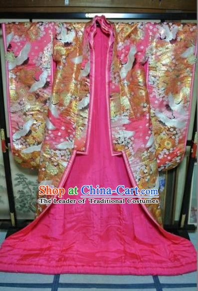 Ancient Japanese Wedding Garment Iromuji Furisode Kimonos Traditional Yukata Dress Costume for Women