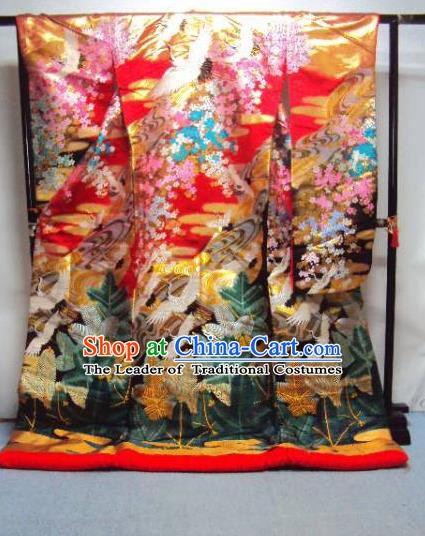 Ancient Japanese Geisha Garment Palace Iromuji Furisode Kimonos Traditional Yukata Dress Costume for Women