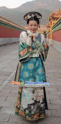 Chinese Traditional Palace Lady Historical Costume China Qing Dynasty Yongzheng Consort Qi Clothing