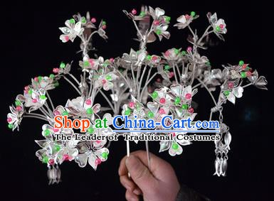 Traditional Chinese Miao Nationality Hair Accessories Headwear Hmong Miao Female Colorful Beads Hairpins for Women