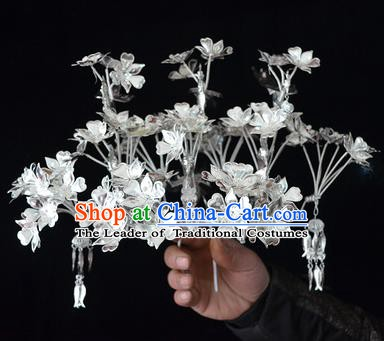 Traditional Chinese Miao Nationality Hair Accessories Headwear Hmong Miao Female Hairpins for Women