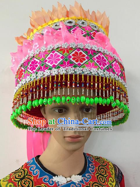 Traditional Chinese Yi Nationality Hats Hair Accessories Ethnic Headwear for Women