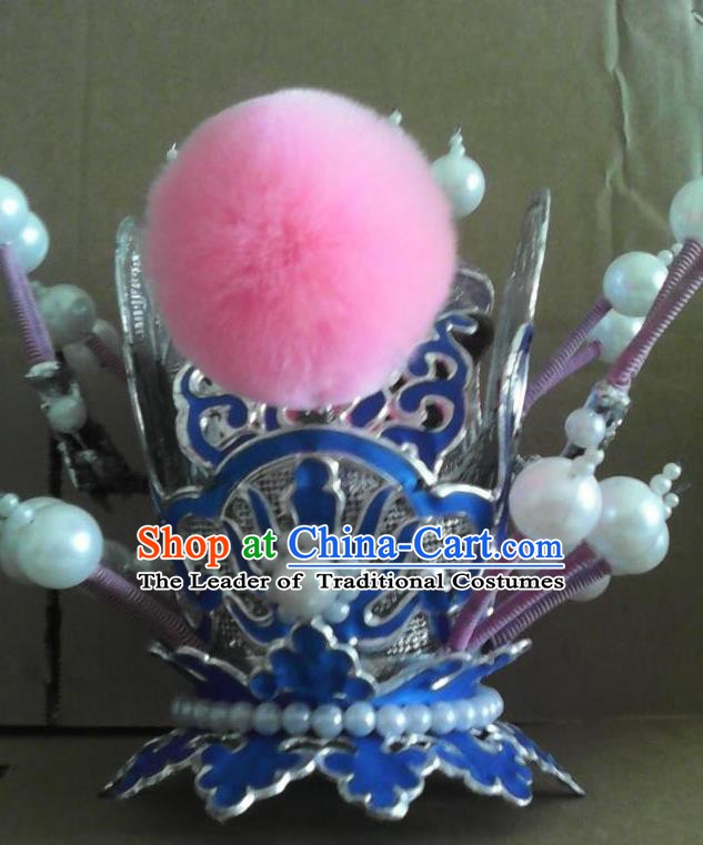 Traditional China Beijing Opera Niche Hair Accessories Ancient Chinese Peking Opera Hairdo Crown Headwear