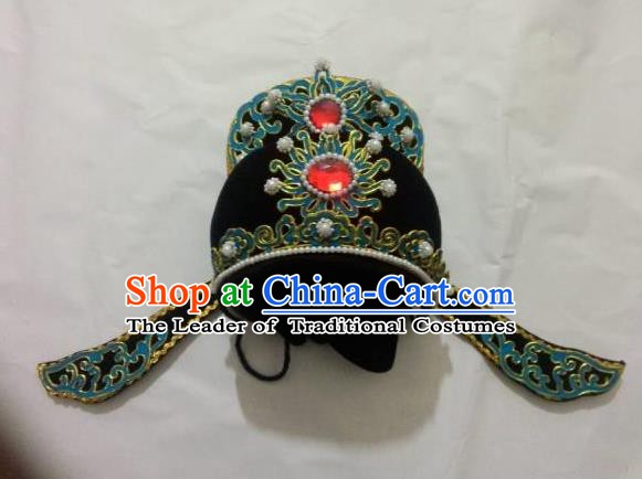 Traditional Chinese Beijing Opera Niche Hair Accessories Peking Opera Scholar Black Hats Headwear