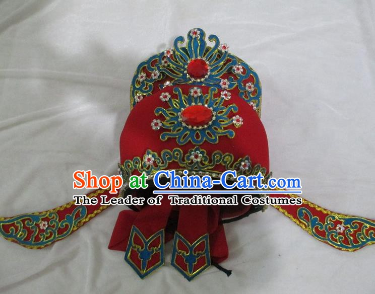 Traditional Chinese Beijing Opera Niche Hair Accessories Peking Opera Young Men White Hats Headwear