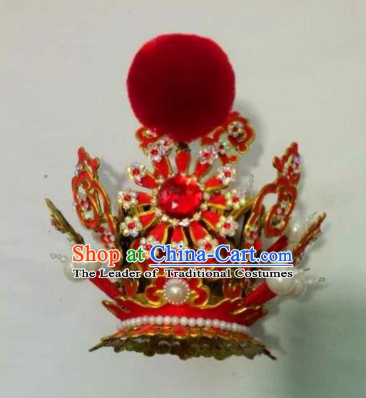 Traditional Chinese Beijing Opera Niche Hairdo Crown Hair Accessories Peking Opera Headwear