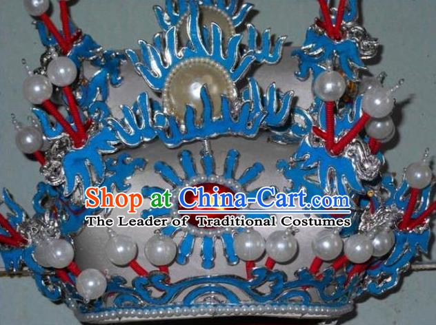 Traditional Chinese Beijing Opera Prime Minister Hair Accessories Peking Opera Chancellor White Hats Headwear