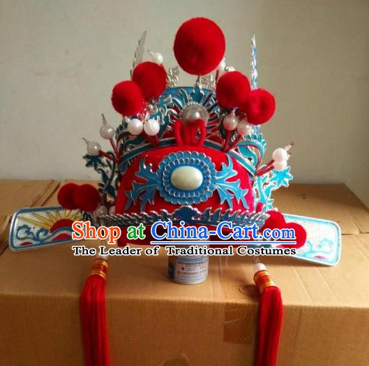 Traditional Chinese Beijing Opera Scholar Bridegroom Hats Peking Opera Niche Headwear