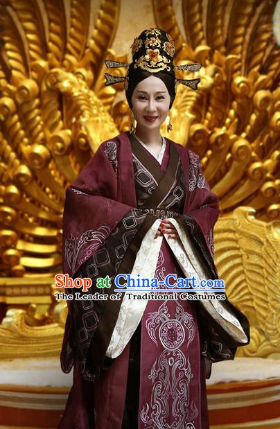 Chinese Han Dynasty Princess Guantao Hanfu Dress Ancient Palace Lady Replica Costume for Women