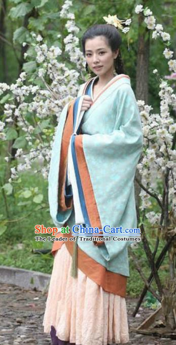 Chinese Han Dynasty Concubine Li of Liu Ying Hanfu Dress Ancient Imperial Consort Replica Costume for Women