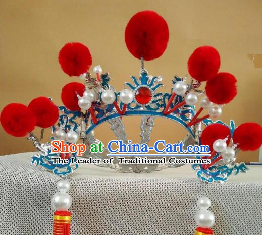 Traditional Chinese Beijing Opera Niche Hats Peking Opera Warrior Headwear