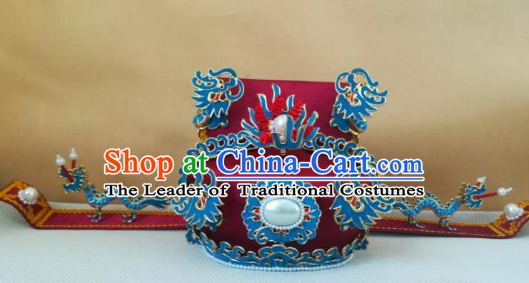 Traditional Chinese Beijing Opera Prime-Minister Hats Peking Opera Royal Highness Headwear