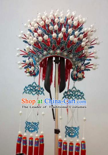 Chinese Traditional Beijing Opera Diva Hair Accessories Peking Opera Imperial Consort Phoenix Coronet Headwear