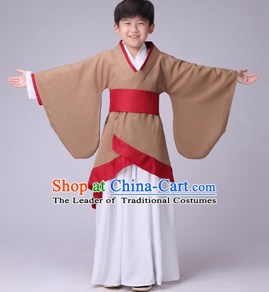 Traditional Chinese Ancient Costume Folk Dance Hanfu Clothing for Kids