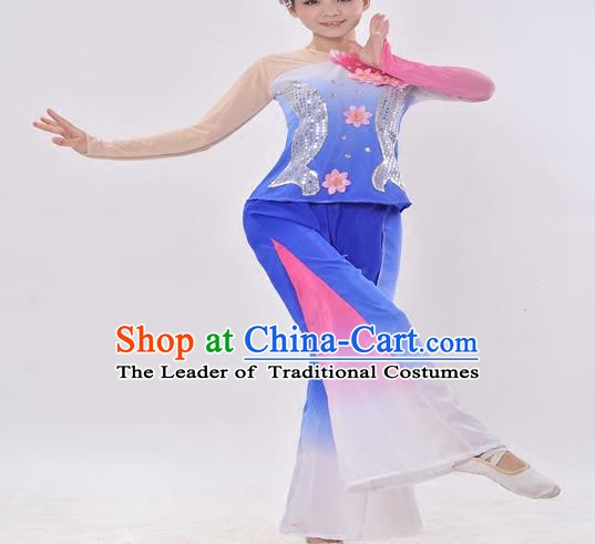 Traditional Chinese Yangge Fan Dance Folk Dance Costume Classical Yangko Dance Modern Dance Dress Halloween Clothing