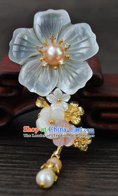 Chinese Ancient Handmade Breastpin Accessories Flower Brooch for Women