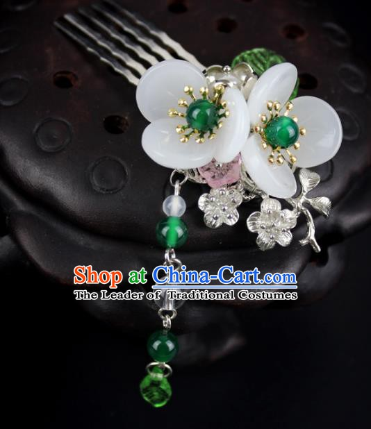 Chinese Ancient Handmade Hair Accessories Tassel Step Shake Hair Comb Hairpins for Women