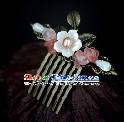 Chinese Ancient Handmade Hair Accessories Classical Hairpins Retro Hair Comb for Women