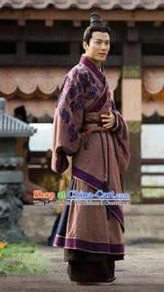 Traditional Ancient Chinese Han Dynasty Nobility Childe Marquis Yin Xing Replica Costume for Men