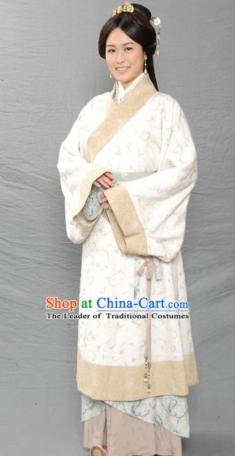 Ancient Chinese Three Kingdoms Period Young Lady Huang Yueying Hanfu Dress Replica Costume for Women
