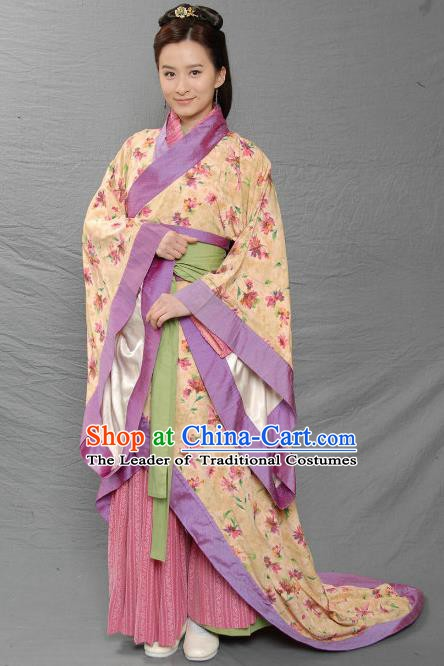 Ancient Chinese Three Kingdoms Period Nobility Lady Hanfu Dress Replica Costume for Women