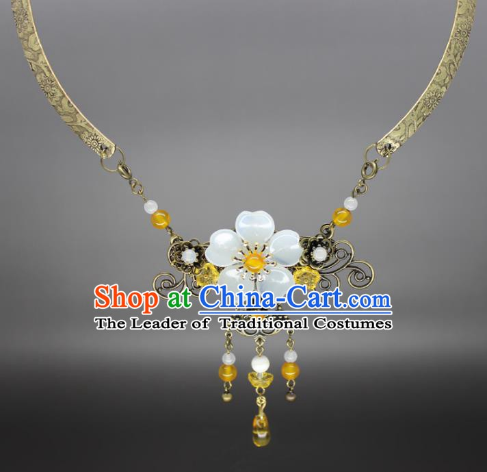 Chinese Ancient Handmade Accessories Necklace Hanfu Necklet for Women