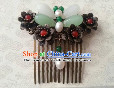 Chinese Ancient Handmade Hair Accessories Classical Tassel Hairpins Butterfly Hair Comb for Women