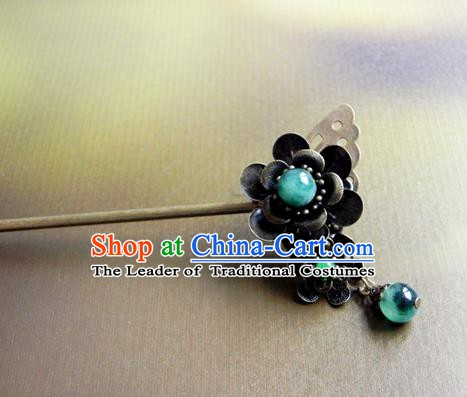 Chinese Ancient Handmade Hair Accessories Hairpins Classical Hanfu Butterfly Hair Stick for Women
