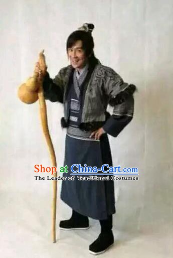 Traditional Chinese Wei and Jin Dynasties Medical Scientist Physician Huangpu Mi Replica Costume for Men