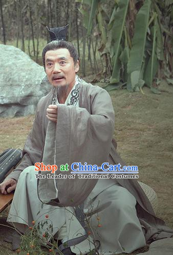 Traditional Chinese Jin Dynasty Minister Calligrapher Xi Jian Replica Costume for Men