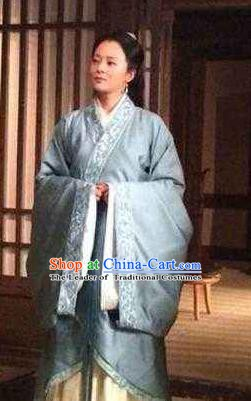 Chinese Ancient Jin Dynasty Nobility Lady Dowager Hanfu Dress Replica Costume for Women