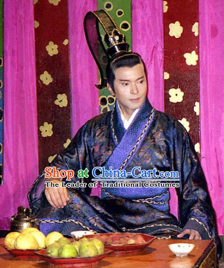 Chinese Ancient Spring and Autumn Period Kingdom Jin Chancellor Tu'an Gu Replica Costume for Men