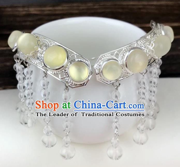 Chinese Ancient Handmade Hair Accessories Tassel Hair Clip Classical Hanfu Hairpins for Women